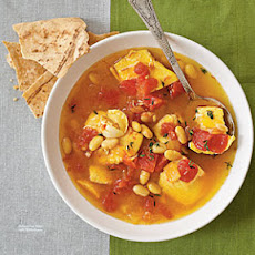 Saffron Fish Stew with White Beans