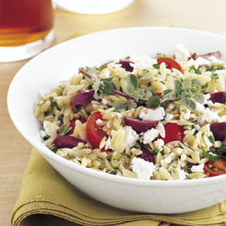 Orzo, Feta, and Tomato Salad with Marjoram Vinaigrette