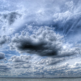 Clouds over the Sea by Steve Williams - Landscapes Cloud Formations