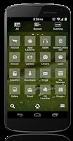 Screenshot of Glass Multi-Launcher Theme