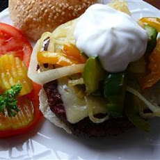 Open-Faced Cheese Burger