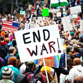 It's funny how I've never met someone who likes war, but we constantly have them. by Brit Morrisey - News & Events Politics ( peace, love )