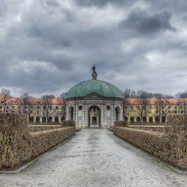 Munich. Temple of Diana.  by Александр Науменко - City,  Street & Park  City Parks ( famous, old, europe, cityscape, architecture, house, historic, city, center, munich, munchen, ancient, sky, bavaria, monument, germany, building, park, church, marienplatz, german, beautiful, tourism, landmark, urban, tower, touristic, european, blue, castle, cathedral, town, garden, bavarian )