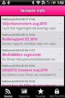 Screenshot of TNS SIFO Sweden