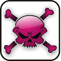 Skull & Bones pink doo-dad icon