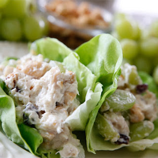 Healthy Cashew Chicken Salad Lettuce Wraps
