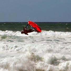 at the beach by Darren Robinsen - Sports & Fitness Surfing ( extreme sport, surfing, gold coast, jet ski, thrill seeker )