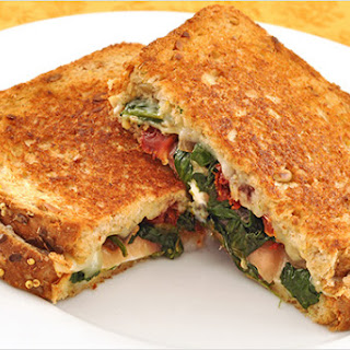 Spinach and Prosciutto Stuffed Grilled Cheese