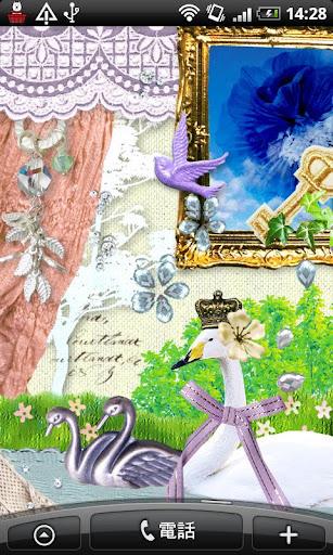 Live Wallpaper fairy swan