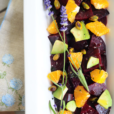 Roasted Beet, Avocado, and Orange Salad {Vegan, Gluten-Free}