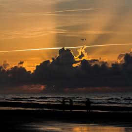 Sun Rise by Tim Christian - Landscapes Beaches ( friends, north myrtle beach, sun rise, beach, south carolina )