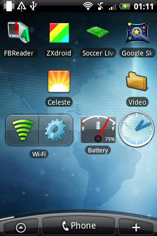 Battery Fuel Widget