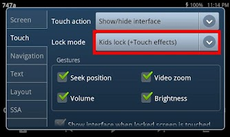 Screenshot of Kids Lock (plugin)