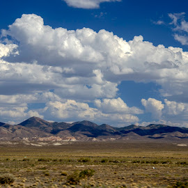 WILD COUNTRY  by Sam Okamoto - Landscapes Deserts ( clouds, wild, mountains, desert, nevada )