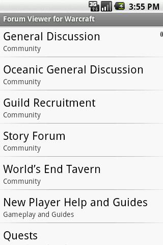 Forum Viewer for Warcraft