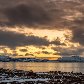 Cloudy sunset by Benny Høynes - Landscapes Sunsets & Sunrises