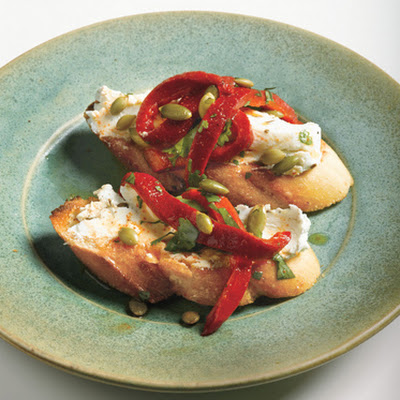 Goat Cheese with Chipotle and Roasted Red Pepper