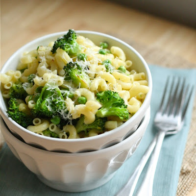 Macaroni with Broccoli & Peas