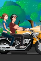 Screenshot of Bike Kissing Game