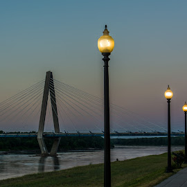 Barkley Park, Kansas City, MO by Scott Fishman - City,  Street & Park  City Parks ( kit bond bridge, digital dimensions, kansas city, night )