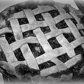 As american as apple pie! by Pam Satterfield Manning - Food & Drink Cooking & Baking ( apple pie, food and drink, candy and desserts, black and white, cooking and baking,  )