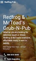 Screenshot of Redfrog & McToad's Grub-n-Pub