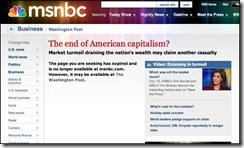 the end of American Capitalism