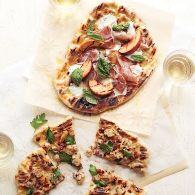 Grilled Pizzas with Clams and Bacon