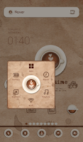 Screenshot of coffee time 도돌런처 테마