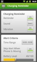 Screenshot of Charging Reminder