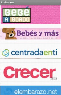 Revistas de embarazo - screenshot
