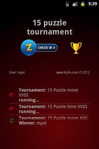 15 Puzzle Tournament
