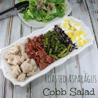 Roasted Asparagus Cobb Salad