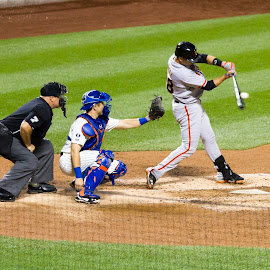 posey point of contact..Go Giants by JERry RYan - Sports & Fitness Baseball