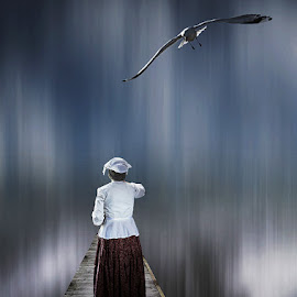 GRATITUDE by Deep Bhatia - Digital Art People ( montaging, bird, conceptual, people )