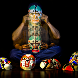 Mask In Motion by Pimpin Nagawan - Artistic Objects Other Objects
