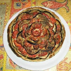 Aubergine and Tomato Crostata ( Italian Rustic Pie)