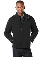 Perry Ellis Quilted Nylon With Peformance Strecth Jacket
