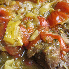 Lamb or Beef Tagine with Onions and Tomatoes