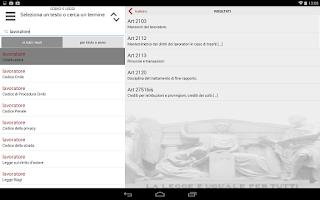 Screenshot of Codici e Leggi
