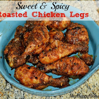 Sweet & Spicy Roasted Chicken Legs