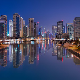 Dubai Marina Towers by Walid Ahmad - Buildings & Architecture Office Buildings & Hotels ( amazing, dubai, uae, night, cityscape, photography )