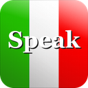 Speak Italian Free mobile app icon