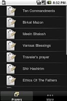 Screenshot of Jewish Prayers