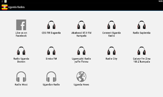 Screenshot of Uganda Radio Free