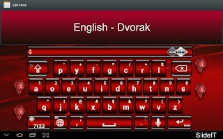 Screenshot of SlideIT English Dvorak Pack