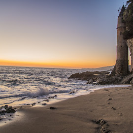 by Tim Mikolajczyk - Landscapes Beaches ( water, laguna beach, sand, sunset, cliff, lighthouse, victorian, castle, ocean, beach,  )