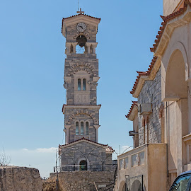 Church tower by Vibeke Friis - Buildings & Architecture Places of Worship ( tower, church, greek, religious )