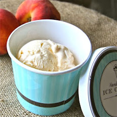 Peaches and Honey Frozen Yogurt