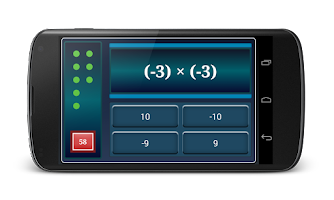 Screenshot of Math Negative Numbers Practice
